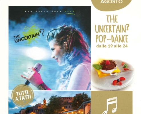 2 agosto 2020 - the uncertain pop-dance - Il Barrino di Tatti