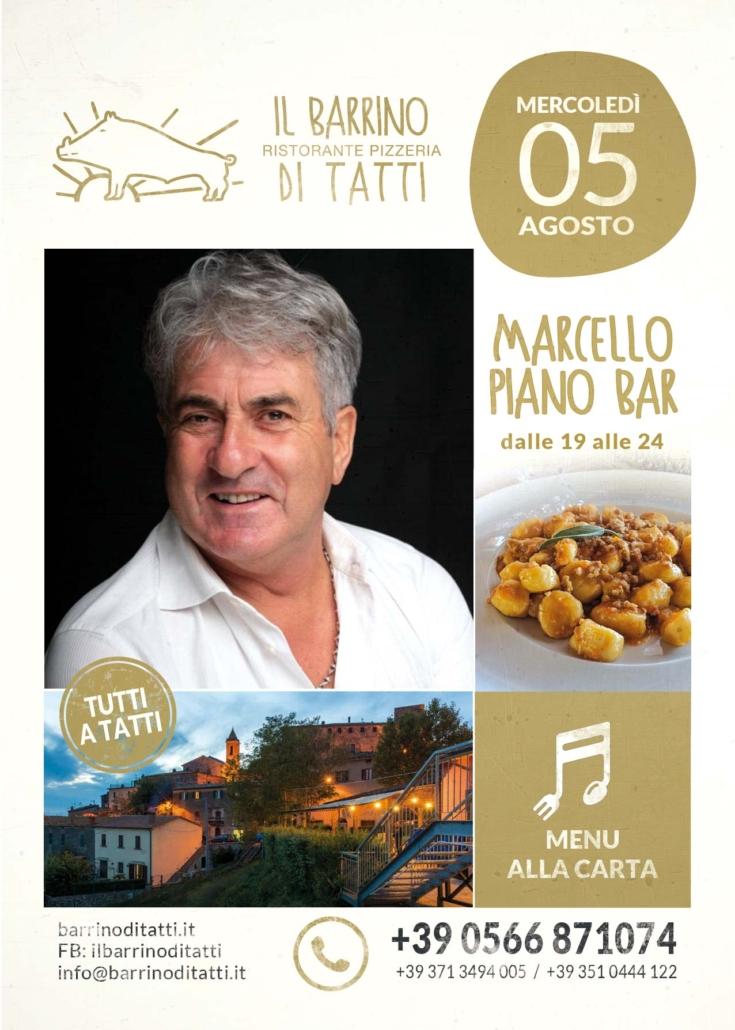 5 agosto 2020 - Marcello piano bar - Il Barrino di Tatti