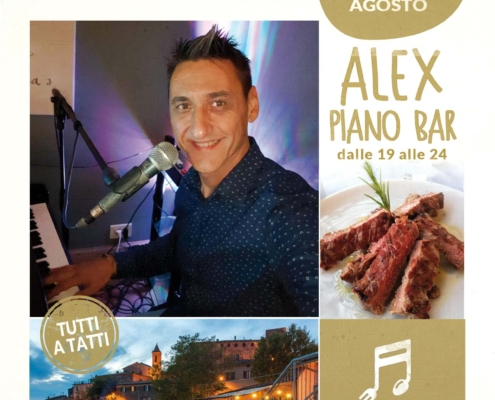 7 agosto 2020 - ALEX piano bar - Il Barrino di Tatti