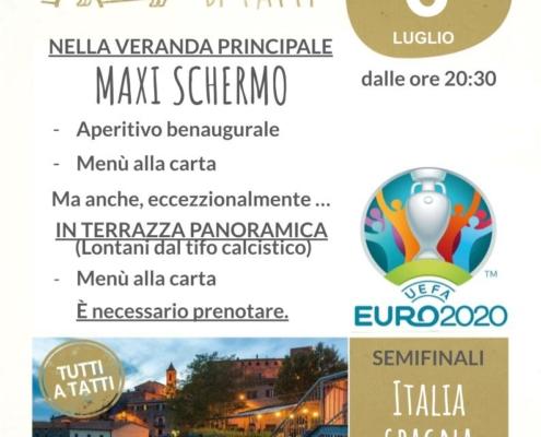 6 luglio 2021 - Maxi schermo - europei di calcio - Il Barrino di Tatti