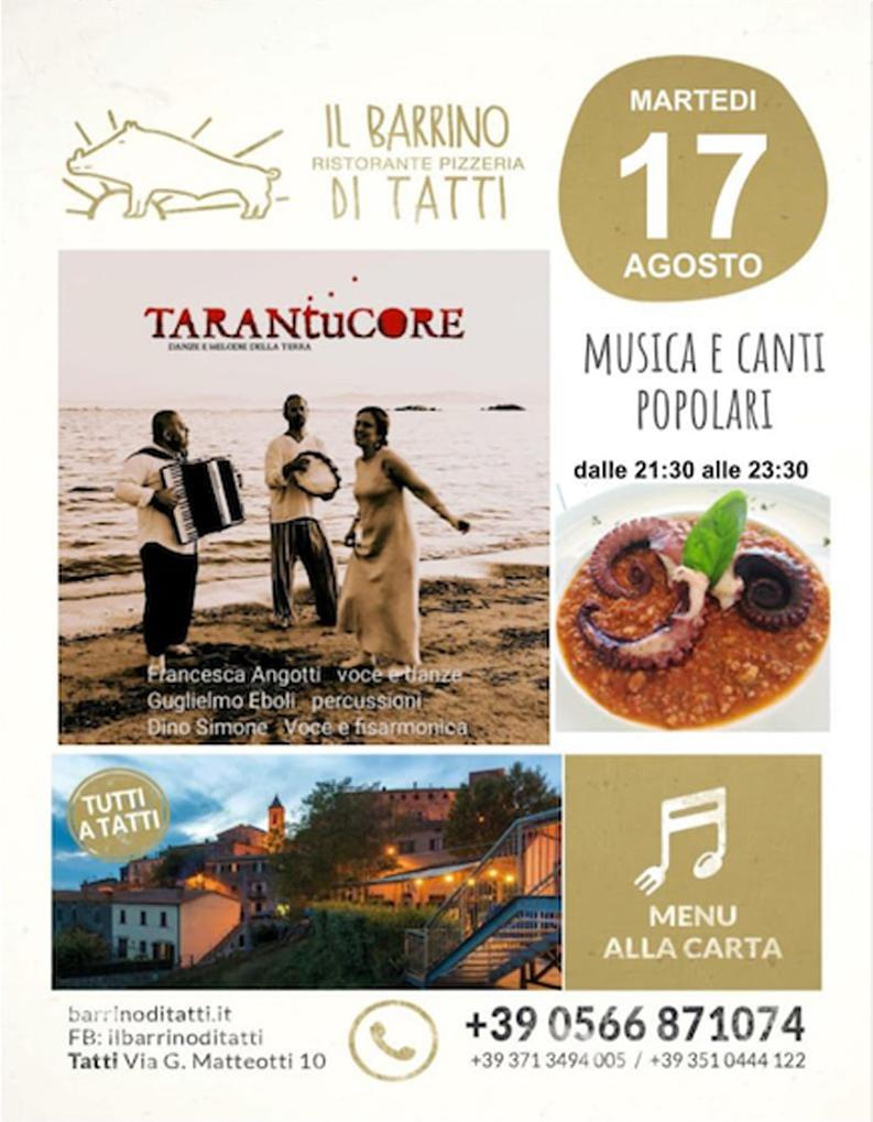 17 agosto 2021 - Piano bar - Il Barrino di Tatti ristorante pizzeria - cucina di stagione e del territorio