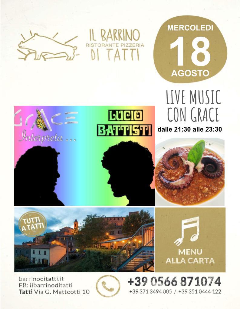 18 agosto 2021 - Piano bar - Il Barrino di Tatti ristorante pizzeria - cucina di stagione e del territorio