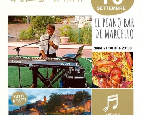 10 settembre 2021 - Piano bar - Il Barrino di Tatti ristorante pizzeria - cucina di stagione e del territorio